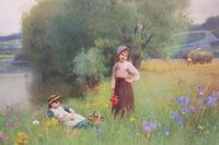 Summertime in Sussex - Watercolour by B. D. Sigmund c.1930 (3 of 3)