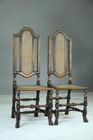 Pair of Walnut & Cane Carolean Chairs (8 of 11)