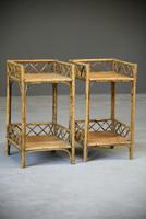 Cane & Bamboo Side Tables (3 of 8)