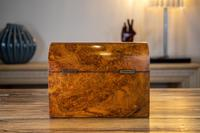 Burr Walnut Tea Caddy with Canisters 1880 (6 of 9)