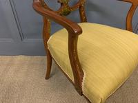 Painted Satinwood Armchair by Jas Shoolbred (8 of 14)