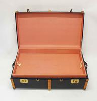 1930's Steamer Trunk, Blue, Wooden Straps - Complete, Superb Condition (13 of 14)