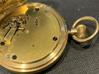 18ct Full Hunter Pocket Watch by Rotherham's of London (9 of 12)