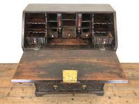 Antique Carved Oak Bureau (5 of 14)