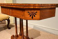 George III Satinwood, Rosewood & Ebony Inlaid Card Table (10 of 10)