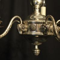 English Silver Plated 5 Light Antique Chandelier (6 of 10)