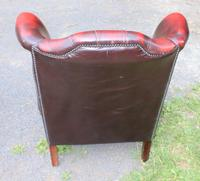 1960s Red Leather Wingback Armchair with Union Jack (2 of 3)