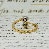 The Vintage Paired Flowers Fourteen Diamond Ring (6 of 6)