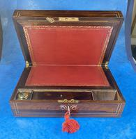 William IV Rosewood & Mother of Pearl Writing Slope (10 of 14)