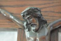 Large Oak Crucifix with Spelter Corpus Christi (7 of 10)