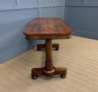 Good William IV Rosewood Library Stretcher Table (11 of 12)