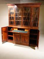 An Early 20th Century Mahogany Breakfront Bookcase of the Finest Quality (3 of 4)