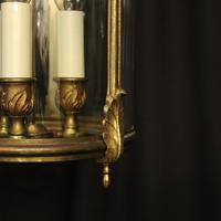 French Gilded Triple Light Convex Hall Lantern (2 of 10)