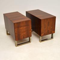 Rosewood & Brass Vintage Partners Desk (14 of 16)