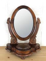 Small Victorian Mahogany Bedroom Swing Mirror