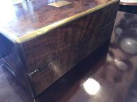 Burr Walnut Brass Inlaid Writing Box (16 of 17)