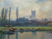 St Johns College, Cambridge 'John Henry Leonard' (1834-1904) Landscape Painting (2 of 12)