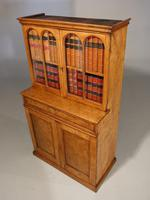 Beautifully Made Late 19th Century Oak & Burr Oak Small Bookcase Cabinet (4 of 4)