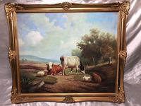 Fine Art English Oil Painting Cattle Cows & Sheep After Thomas Sidney Cooper (27 of 33)