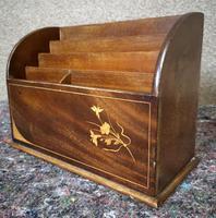 Edwardian Inlaid Mahogany Letter Rack / Correspondence Box (7 of 9)