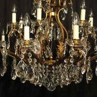 Italian Gilt & Crystal 22 Light Antique Chandelier (8 of 10)