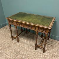 Stunning Victorian Arts & Crafts Walnut Antique Desk (6 of 8)