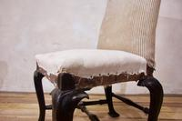 18th Century Ebonised & Upholstered Queen Anne Side Chair (2 of 13)