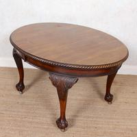 Oak Dining Table & 6 Chairs Telescopic 19th Century (7 of 19)