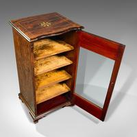 Antique Music Cabinet, English, Rosewood, Display Case, Inlay, Victorian c.1870 (8 of 12)