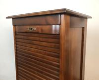 French Tambour Fronted Cherrywood Filing Cabinet with Haberdashery Style Trays (4 of 12)