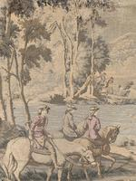 Superb 19th Century Tapestry Depicting Hunting Scene (2 of 7)