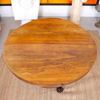 William IV Rosewood Breakfast Table Tilt Top Dining Console (10 of 11)