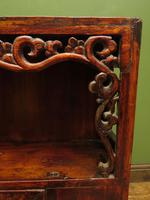 Antique Chinese Qing Shrine Shelf Cabinet with Doors (8 of 18)