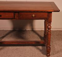19th Century French Two Drawer Desk with Turned Feet (3 of 12)