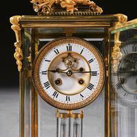 French 8 Day Striking Four Glass Ormolu Clock by Samuel Marti Paris, 19th Century (11 of 11)