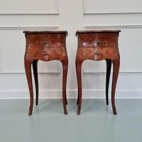 French Kingwood Bedside Tables c.1930 (2 of 6)
