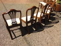 Set of 8 Hepplewhite Style Mahogany Dining Chairs (9 of 12)