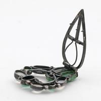 Arts & Crafts Dorrie Nossiter Clip, Rare Jade, Moonstone & Chrysoprase (2 of 3)