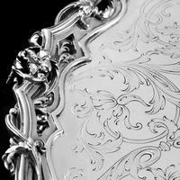 Exceptional Large Solid Sterling Silver Victorian Salver/tray/platter 47cm with Cast Border - Hunt & Roskell - Storr Mortimer & Hunt (13 of 29)