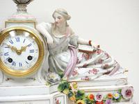 Original Meissen Porcelain Mantel Clock Figural Striking 8-Day Mantle Clock c.1860 (2 of 6)