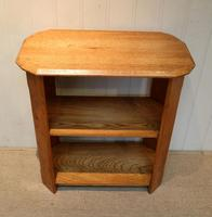 Solid Golden Oak Three Tier Table (2 of 5)