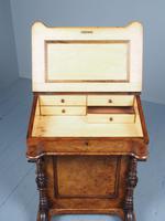 Antique Mid-victorian Burr Walnut Davenport Desk (5 of 12)