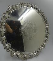 Antique George III Silver Salver London 1754 by Richard Rugg (2 of 9)