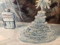 "Victorian Louis Wain Print ""The Wedding Breakfast"" Advertising Mellin's Food Biscuits (9 of 14)"