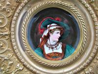 Antique Berlin Porcelain Dish in Repoussée Brass Frame c.1880 (6 of 10)