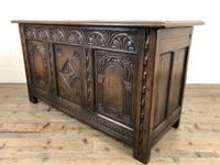 Early 20th Century Carved Oak Coffer or Blanket Box (8 of 12)