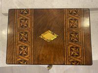 Victorian Mahogany Box with Tunbridge Ware Bands (14 of 15)