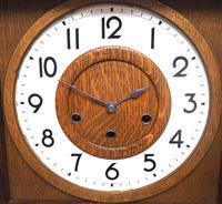 Grandmother Clock Fine Musical Longcase Clock Oak & White Dial c.1930 (9 of 14)