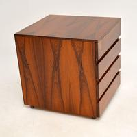 Danish Rosewood Filing Chest of Drawers Vintage 1960's (7 of 9)