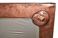 Unusual Arts & Crafts Rectangular Copper Mirror (3 of 7)